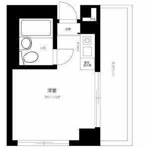 1R Mansion in Shakujiimachi - Nerima-ku Floorplan