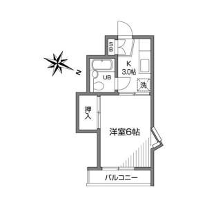 1K Apartment in Wakabacho - Chofu-shi Floorplan