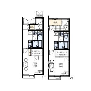 1K Apartment in Tama - Togane-shi Floorplan