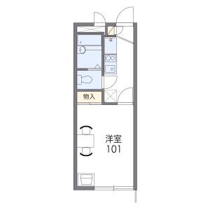 富士見野市上福岡-1K公寓 房間格局