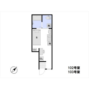 1R Apartment in Sasazuka - Shibuya-ku Floorplan