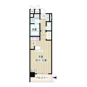 1K Mansion in Kamiyamacho - Shibuya-ku Floorplan