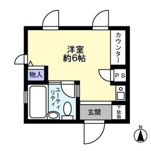 1R Mansion in Fukagawa - Koto-ku Floorplan
