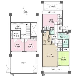 4LDK {building type} in Seta - Setagaya-ku Floorplan