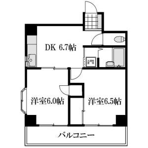 2DK Mansion in Matsugaya - Taito-ku Floorplan