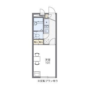 1K Apartment in Shimizu - Osaka-shi Asahi-ku Floorplan