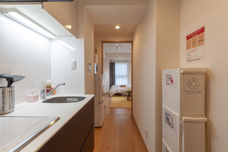 在中央区内租赁1K 公寓大厦 的 内部