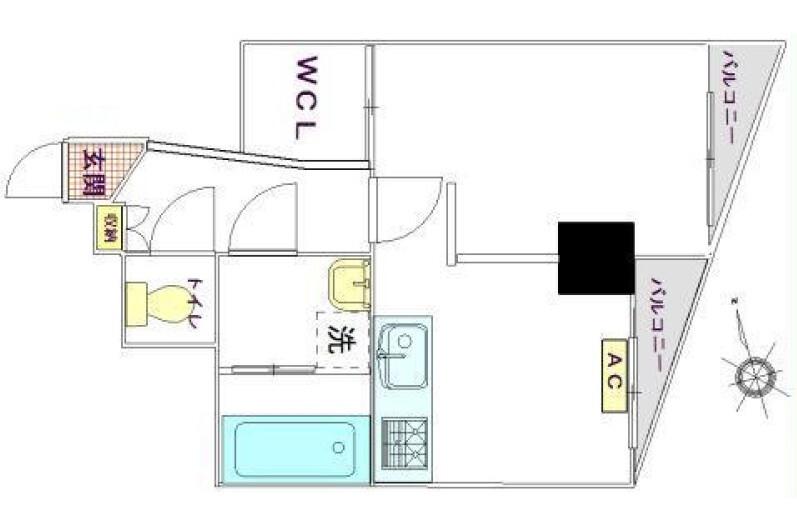 1DK Apartment to Buy in Ota-ku Floorplan