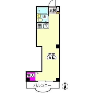 1R Mansion in Nishikojiya - Ota-ku Floorplan