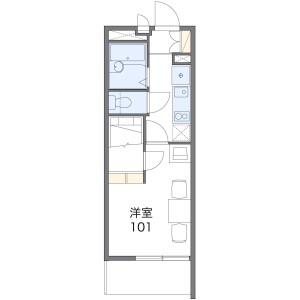 1K Mansion in Takazu - Yachiyo-shi Floorplan
