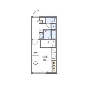 1K Apartment in Oyachinishi - Sapporo-shi Atsubetsu-ku Floorplan
