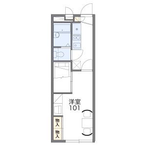 1K Apartment in Kisogawacho sotowariden - Ichinomiya-shi Floorplan