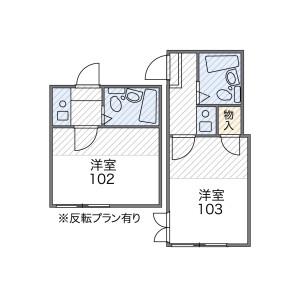 1K Mansion in Nakameguro - Meguro-ku Floorplan