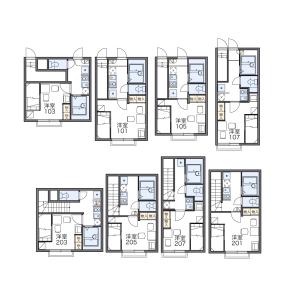 1K Apartment in Nukui - Nerima-ku Floorplan