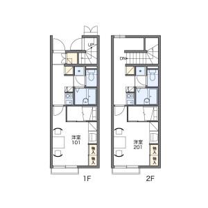 1K Apartment in Hadamecho - Matsusaka-shi Floorplan