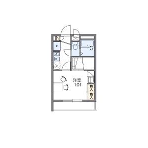 1K 아파트 in Motogo - Kawaguchi-shi Floorplan