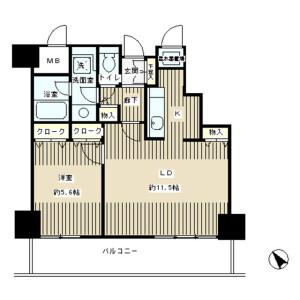 6K Mansion in Shimomeguro - Meguro-ku Floorplan