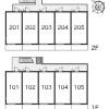 1K アパート 横浜市南区 配置図