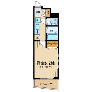 1K Mansion in Yagumodai - Chofu-shi Floorplan