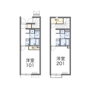 1K Apartment in Imajukuekimae - Fukuoka-shi Nishi-ku Floorplan