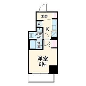 1K Mansion in Sueyoshicho - Yokohama-shi Naka-ku Floorplan
