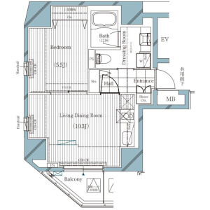 1LDK {building type} in Dogenzaka - Shibuya-ku Floorplan
