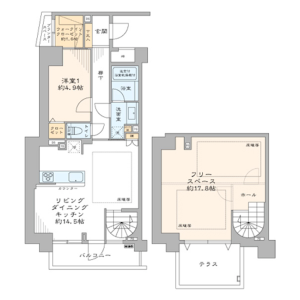 2LDK {building type} in Higashigotanda - Shinagawa-ku Floorplan