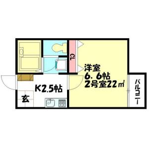 1K Apartment in Nakacho - Ageo-shi Floorplan