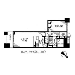 1LDK Mansion in Nihombashibakurocho - Chuo-ku Floorplan