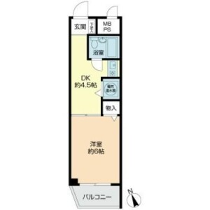 1K {building type} in Higashigotanda - Shinagawa-ku Floorplan