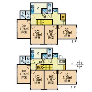 STEP CLOUD YOTSUGI Ⅳ - Guest House in Katsushika-ku Floorplan