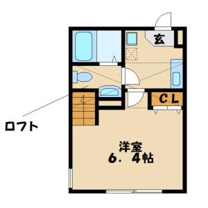 1K Apartment in Fujimi - Sagamihara-shi Chuo-ku Floorplan