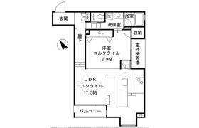 1LDK Mansion in Shiroganecho - Shinjuku-ku