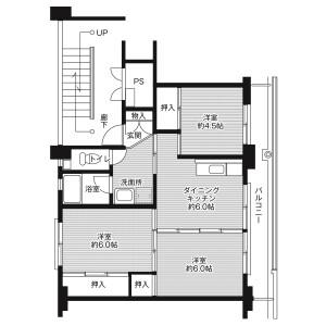 3DK Mansion in Higashitawara - Nabari-shi Floorplan
