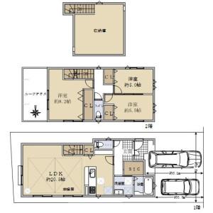 3LDK {building type} in Katsura kamimamedacho - Kyoto-shi Nishikyo-ku Floorplan