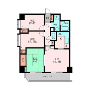 3LDK 맨션 in Hatsunecho - Yokohama-shi Naka-ku Floorplan