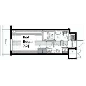 1K Mansion in Ginza - Chuo-ku Floorplan