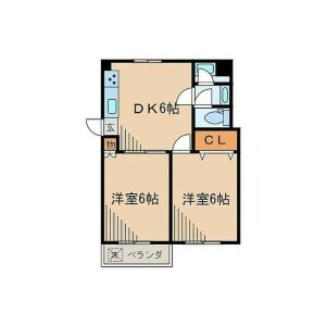 2DK Mansion in Motoazabu - Minato-ku Floorplan