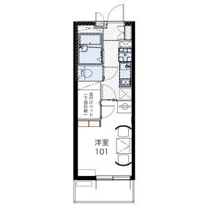 1K Mansion in Fukakusa kawaramachi - Kyoto-shi Fushimi-ku Floorplan