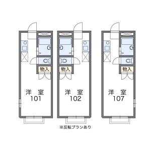 1K Mansion in Shiraitodai - Fuchu-shi Floorplan