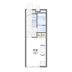 1K Apartment in Matsugaoka - Chigasaki-shi Floorplan