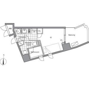 丰岛区高田-1K公寓大厦 楼层布局