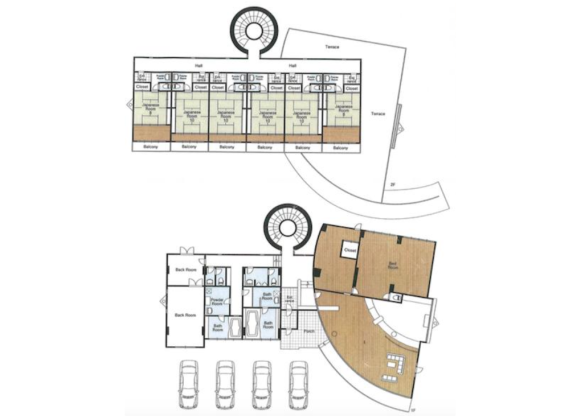 Whole Building Holiday House to Buy in Kobe-shi Nada-ku Floorplan