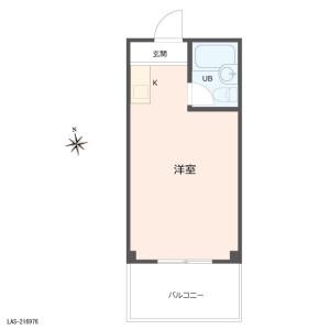 1R {building type} in Hasune - Itabashi-ku Floorplan