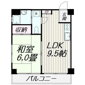 1LDK Mansion in Miyanishicho - Fuchu-shi Floorplan