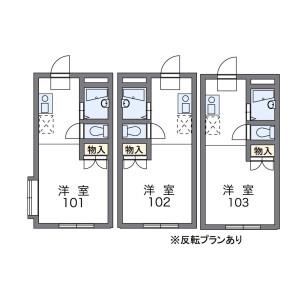 1K Mansion in Kashiwacho - Tachikawa-shi Floorplan