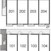 1K Apartment to Rent in Fukuoka-shi Hakata-ku Layout Drawing