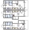 1K 아파트 to Rent in Meguro-ku Floorplan