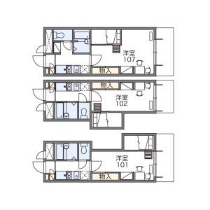 1K 아파트 in Komaba - Meguro-ku Floorplan