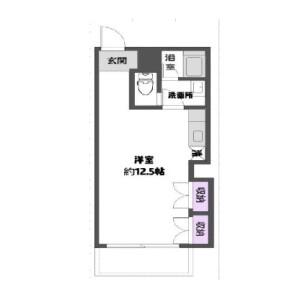 1R {building type} in Yuko - Chiba-shi Chuo-ku Floorplan